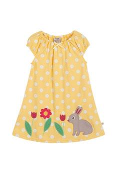 Frugi Kleid Punkte gelb mit Hase