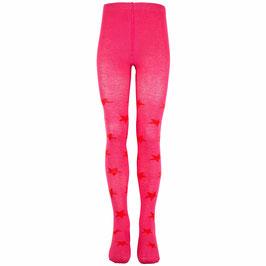 Mala Strumpfhose Sterne pink/rot