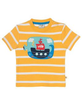 Frugi T-Shirt Buddelschiff gelb geringelt