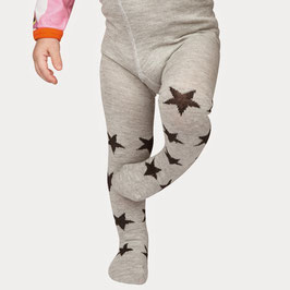 Mala Strumpfhose Sterne grau/schwarz