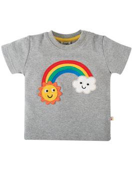 Frugi T-Shirt Regenbogen/Wolke grau