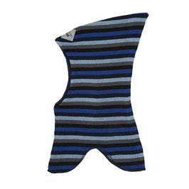 Racing Kids Schalmütze mit Zipfel Wolle 5er Ringel  kobaltblau/grau/eisblau/schwarz/marineblau 14