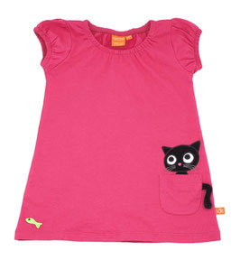 "Lipfish Kleid KA, Motiv ""cat in pocket"" Farbe ""cerise""9053"