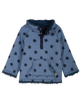 Frugi Wendepullover Kuschelfleece Sterne marine/blau