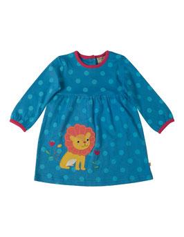Frugi LA Kleid Löwe blau mit Punkten