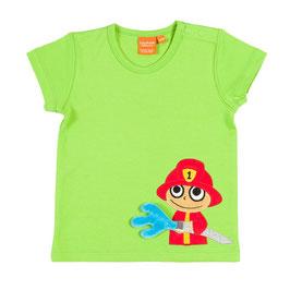 "Lipfish T-Shirt, Motiv ""Feuerwehmann"" grün"