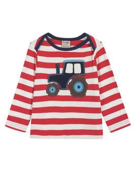 Frugi LA Shirt Traktor Streifen rot/weiß