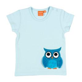 """Lipfish T-Shirt, Motiv """" Eule """" hell-blau"""