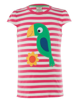 Frugi T-Shirt Papagei Raspberry