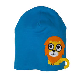 Lipfish Mütze, Motiv Löwe blau