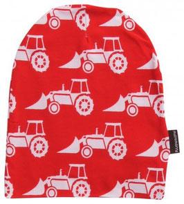 Maxomorra Mütze Traktor rot