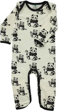 Smafolk Strampler Panda weiß