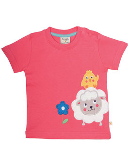 Frugi T-Shirt little Sheep rosa