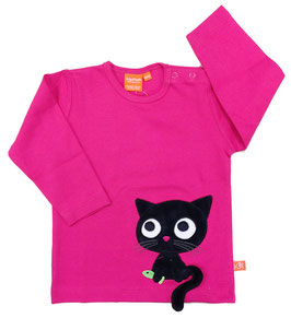 "Lipfish LA Shirt, Motiv ""cat"" Farbe ""pink""4168"
