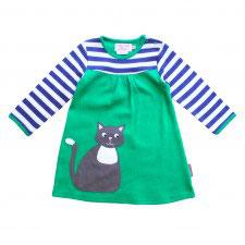 Toby Tiger Kleid Katze blau/grün