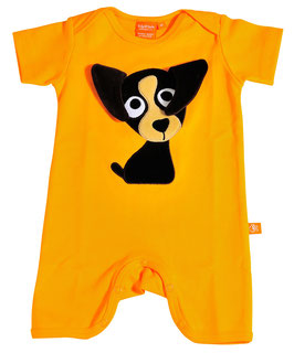 "Lipfish Jumpsuit,KA Motiv ""puppy"" Farbe ""orange""7351"
