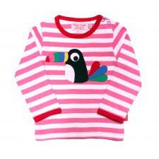 Toby tiger LA Shirt Tucan  Streifen rosa/weiß