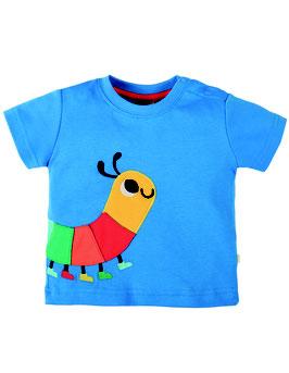 Frugi T-Shirt Raupe blau