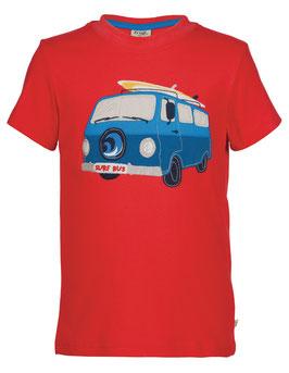 Frugi T-Shirt Camper-Bus rot