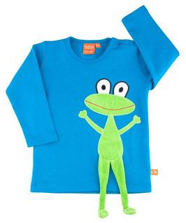 "Lipfish LA Shirt, Motiv ""Frosch"" blau 41560"