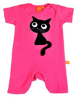 """Lipfish Jumpsuit,KA Motiv """"cat"""" Farbe """"hotpink""""7353"""