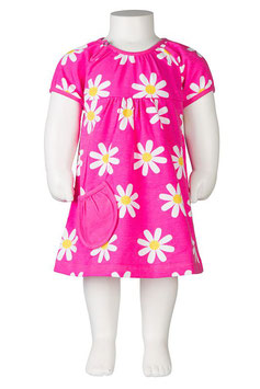 Jny Body-Dress Blumen rosa