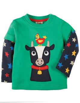 Frugi LA Shirt Kuh mit Sternchen