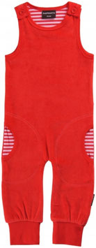 Maxomorra Playsuit velour rot