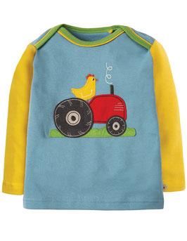 Frugi LA Shirt Traktor gelb/blau