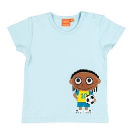 "Lipfish T-Shirt, Motiv "" Fußballer "" hell-blau"