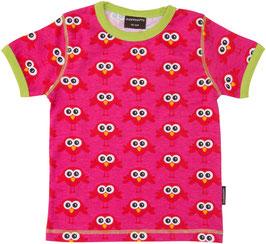 Maxomorra T-Shirt Vögel pink/rot