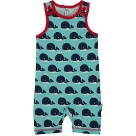 Maxomorra Playsuit kurz Wale blau/rot