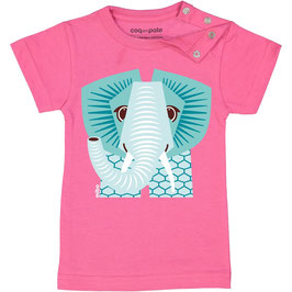 Coq en Pate T-Shirt Mibo Elefant rosa