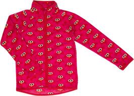 Maxomorra Micro-Fleece Jacke Vögel pink/rot