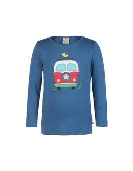 Frugi LA Shirt Camping-Bus dunkel-blau