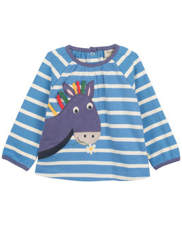 Frugi LA-Shirt Little Ella Top Esel Streifen blau