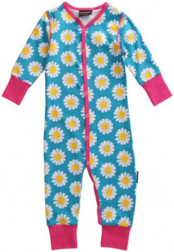 Maxomorra Rompersuit Daisy turquoise
