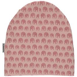 Maxomorra Mütze Elefanten rosa