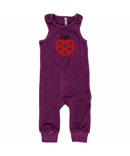 Maxomorra Playsuit velour Käfer lila