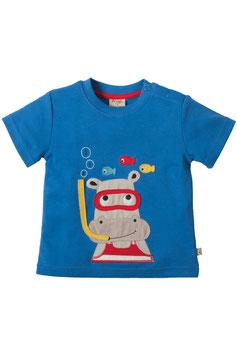 Frugi T-Shirt Hippo blau