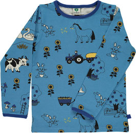 Smafolk LA Shirt Bauernhof blau