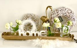Colmore by Diga  Tablett/ Schale aus Aluminium Raw Bronze 2 Größen