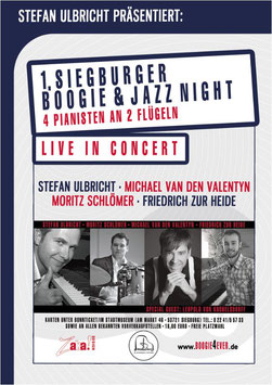 DVD -  Konzertmittschnitt der 1. Siegburger Boogie & Jazz Night