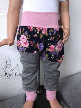 """Pumphose Baggy Pants """"Rosen Rosa"""" Einzelstück Größe 80/86"""