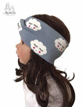 """Stirnband Haarband """" Wolken blau """""""