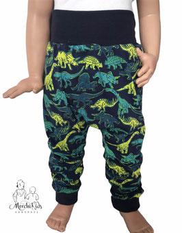 "Baggy Pants Pumphose "" Pirat ""  Dinosaurier grün/ dunkelblau """