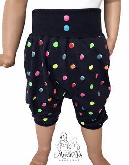 """Kurze Hose Baggy Pants """" bunte Punkte """" Einzelstück Größe 116"""
