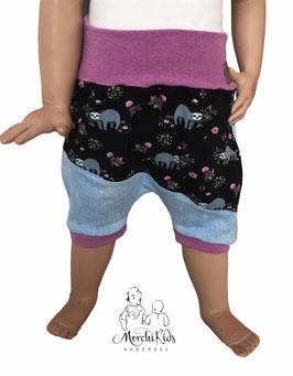 """Kurze Hose Baggy Pants """" Faultier lila """""""