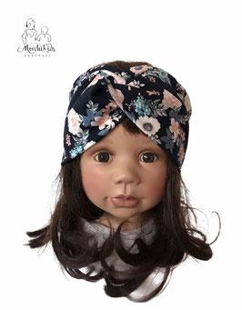 """Haarband Stirnband Knotenband """" Blumen klein """""""