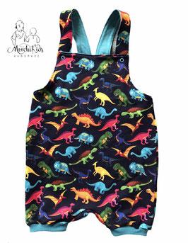 """Sommer Latzhose """" bunte Dinosaurier """" Größe 104 110"""